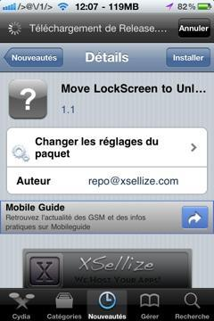 Déverouiller votre iDevice de façon originale avec MoveLockscreen Unlock