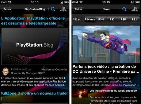 L'appli iPhone/iPod Touch «PlayStation» est disponible sur l'AppStore