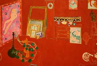 Matisse l atelier rouge paperblog for Interieur rouge matisse
