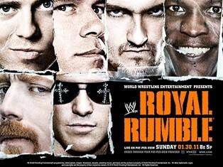 L'affiche du Royal Rumble le pay per view de la WWE du 30 janvier 2011
