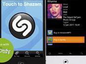 Shazam intègre fonction Spotify pour applis smartphone