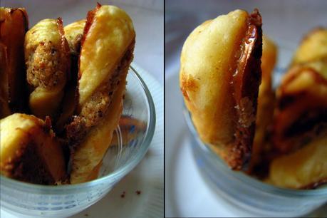 Mini sacristains aux noisettes ou comment optimiser ses chutes de pâte feuilletée après la galette des rois ?