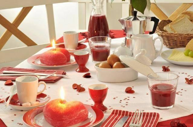 Décoration de table de st Valentin
