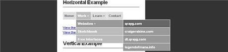 Menus dynamiques en CSS et Jquery