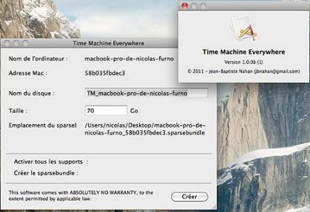 Time Machine Everywhere : utiliser Time Machine avec la FreeBox Server