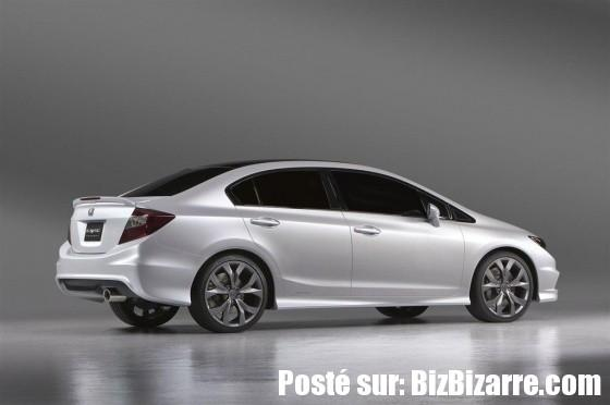 auto civic back 2012 NOUVELLE HONDA CIVIC SEDAN ET HONDA CIVIC COUPE 2011  CONCEPT