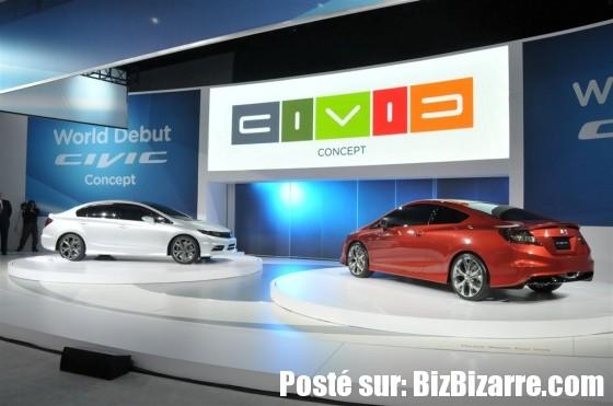 auto honda civic concept 2011 NOUVELLE HONDA CIVIC SEDAN ET HONDA CIVIC COUPE 2011  CONCEPT