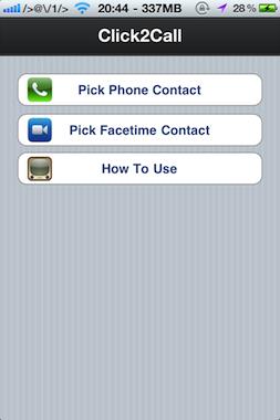 Appelez vos contacts depuis le springboard !