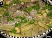 Tajine khorchef cardons sauce blanche