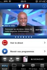 L'application officiel de TF1 disponible sur l'App Sotre