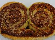 Palmiers pâte tartiner noix coco