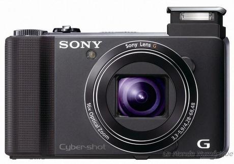 Appareil photo numérique compact Sony DSC-HX9V autofocus ultra rapide et 3D