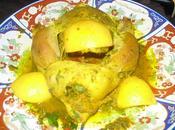 Tajine poulet mchermel poivrons rouges