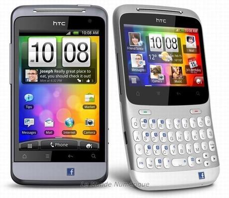 MWC 2011 : HTC lance deux smartphones dédiés à Facebook, le Chacha et le Salsa