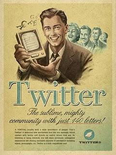 Vintage: Facebook, Tweeter, Youtube, Skype.