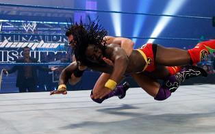 Le Champion de la WWE The Miz vainqueur de Kofi Kingston lors de la 600eme de Raw