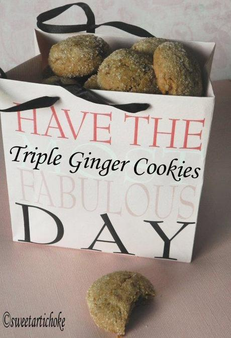 Triple Ginger Cookies – Biscuits aux trois gingembres