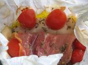Papillotes poulet, tomate mozzarella