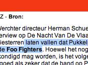 Pukkelpop serait chasse Fighters. lol...