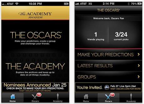 Les Oscars sur iPhone...