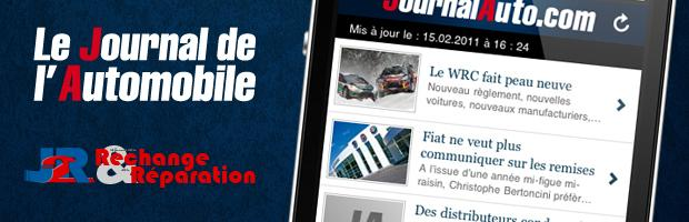 application mobile Journal de l'Automobile