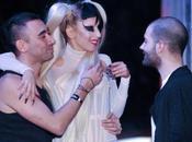 Lady Gaga Bourrée après défilé Thierry Mugler