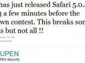 Safari Internet Explorer n'auront résisté longtemps