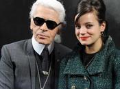 Lily Allen mariée sera Karl Lagerfeld