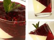 Panna Cotta lait d'amande, gelée d'hibiscus coulis framboise