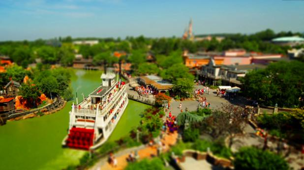 Disneyland Paris en Tilt Shift