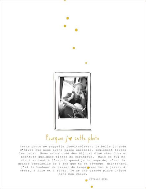 Pourquoi j'aime cette photo :: Scrapbooking digital
