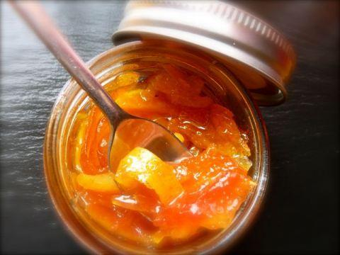 Confiture d'orange, papaye et citron au gingembre