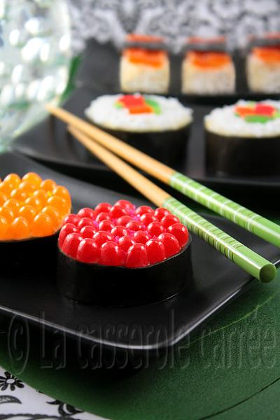 Sushis au poisson d'avril