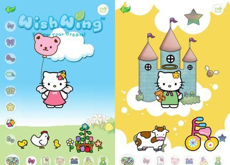 Nouvelles applications Hello kitty pour Iphone