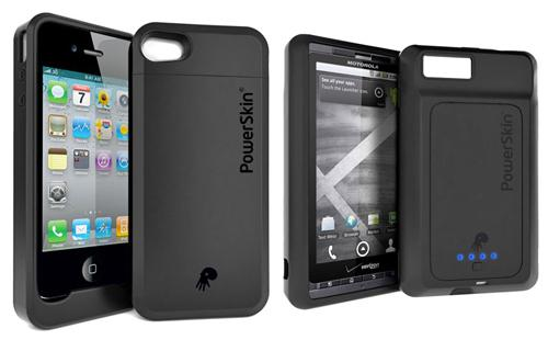 powerskin smartphone cases Augmenter lautonomie de vos smartphones avec létui PowerSkin [Galaxy S, Droid X, HTC HD7,iPhone 4...]