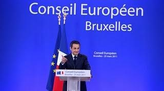 Nicolas Sarkozy Conseil Européen de Bruxelles 25 mars 2011