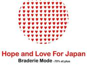 Hope Love Japan braderie mode secours Japon