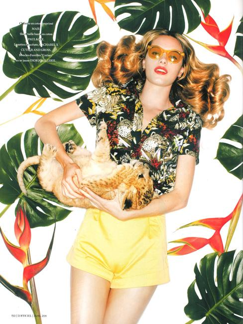 JUNGLE FEELING DANS L'OFFICIEL