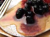 Pancakes l'épeautre myrtilles