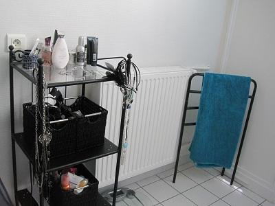 Une jolie salle de bain noir et bleu! - Paperblog
