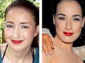 Comment fais makeup façon Dita Teese