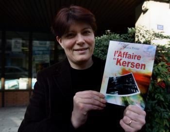 Maria Priser, pas peu fière de son premier roman./photo Jean-Marc Ramel