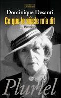 Décès de Dominique Desanti, romancière, journaliste, biographe.