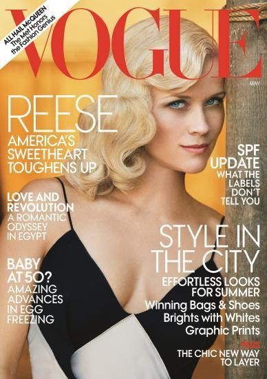 Reese Whiterspoon dans le magasine Vogue