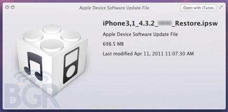 iOS 4.3.2 : arrivée imminente