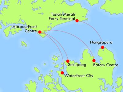 singapore to batam island indonesia map