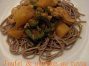 Poulet ananas curry soba