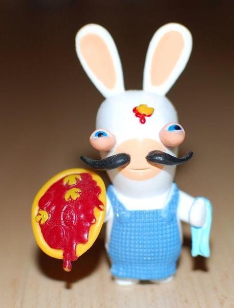 figurine Lapin crétin italien