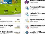 section Sony Ericsson dans l'Android Market