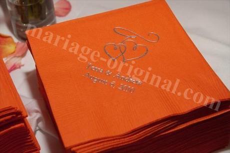 deco de mariage orange tropicale